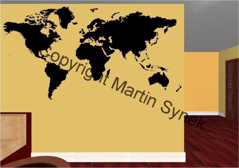Mapa Sveta Ceske Samolepky Vyroba Prodej A Distribuce